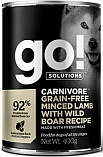 "GO! Carnivore Grain Free Minced Lamb with Wild Boar - Консервы ""ГОУ"" беззерновые с рубленым мясом ягненка и дикого кабана для собак"